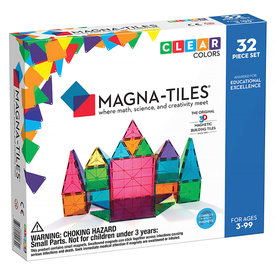 Magna-Tiles Magna-Tiles Clear Colors 32 Piece Set