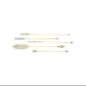 Tattly Tattly Tattoo 2-Pack - Arrows - Gold