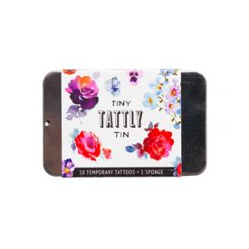 Tattly Tattly Tattoo Tiny Tin - Floral