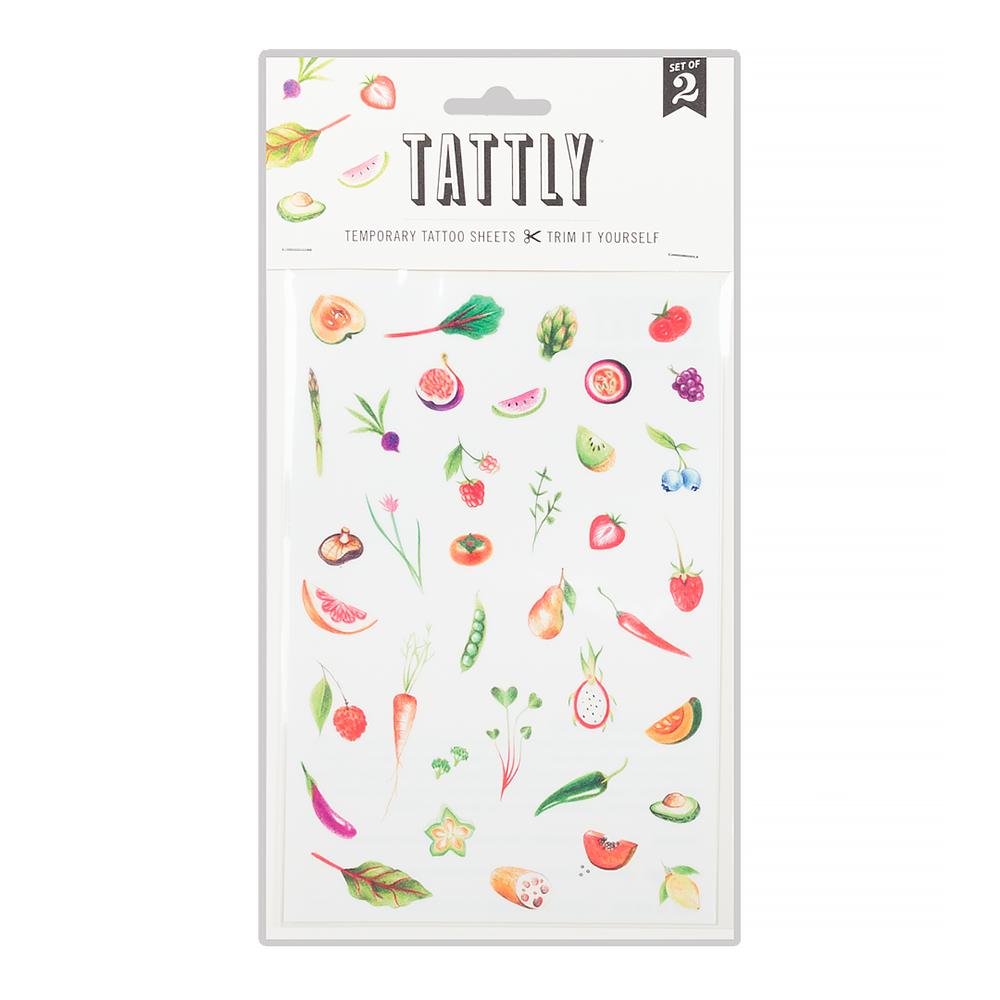 Tattly Tattoo Set of 2 - Petite Produce