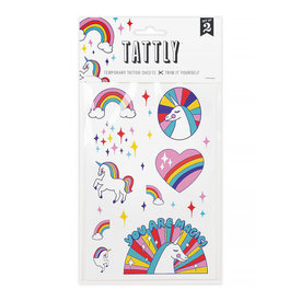 Tattly Tattly Tattoo Set of 2 - Rainbow Unicorn