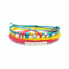 Pura Vida Pura Vida Bracelet Pack - Charli D'Amelio Style - Silver