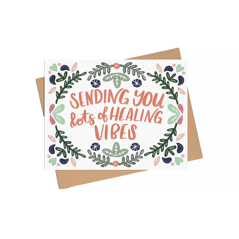 Happy Sappy Mail Happy Sappy Mail Card - Sending You Lots of Healing Vibes