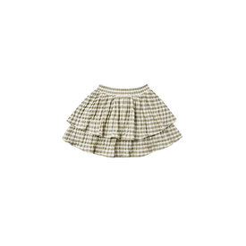 Rylee + Cru Rylee + Cru Tiered Mini Skirt - Olive Gingham