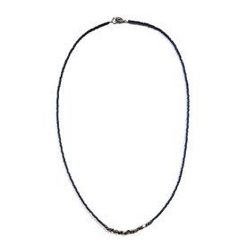 Sarah Crawford Handcrafted Sarah Crawford Beaded Necklace - Daytrip Custom - Dark Harbor - Nickel Nuggets