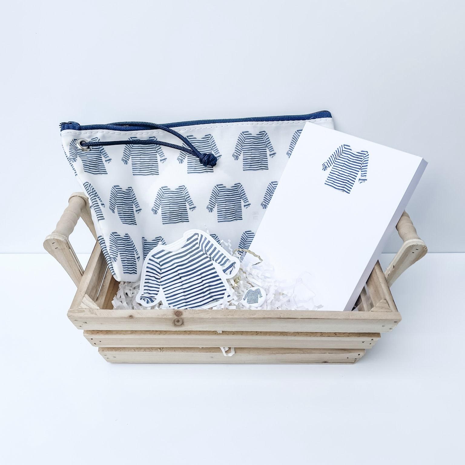 Gift Basket - Sara Fitz Striped Shirt