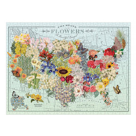 Hachette Wendy Gold USA State Flowers 1000 Piece Jigsaw Puzzle