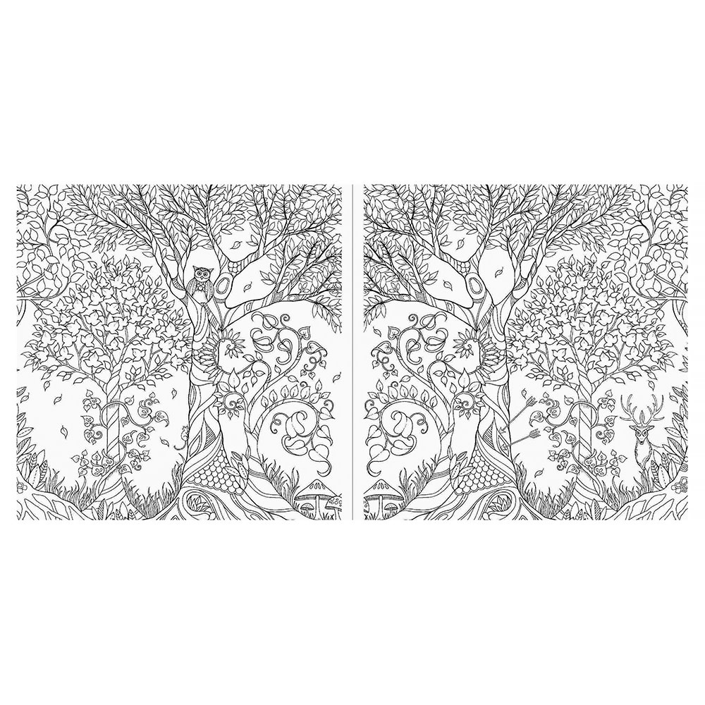 Miniature Enchanted Forest Coloring Book