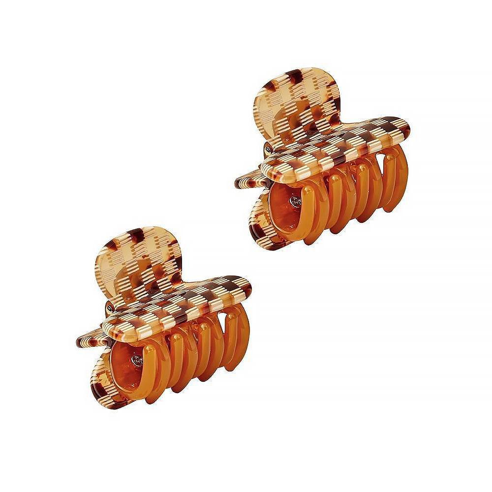 Machete Machete - Twin Heirloom Claw Hair Clip - Tortoise Checker
