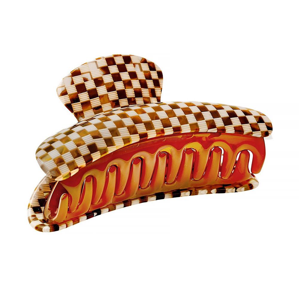 Machete - Grande Heirloom Claw Hair Clip - Tortoise Checker
