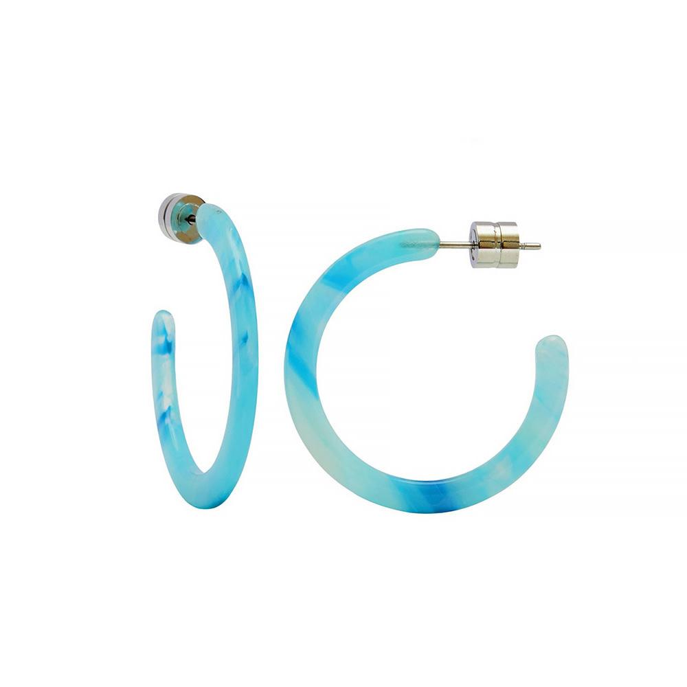 Machete - Mini Hoop Earrings - French Coast Blue