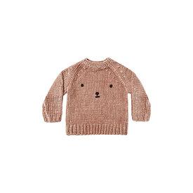 Rylee + Cru Rylee + Cru Chenille Sweater Bear - Dusty Rose