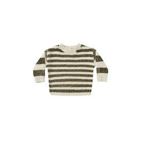 Rylee + Cru Rylee + Cru Chenille Sweater - Olive Stripe