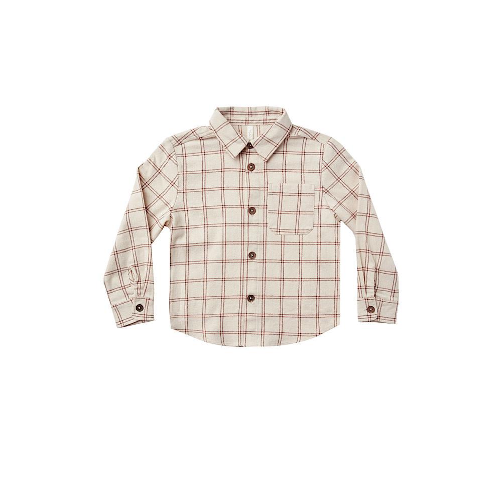 Rylee + Cru Collared Shirt - Wine Check