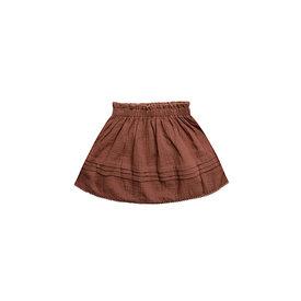 Rylee + Cru Rylee + Cru Simple Skirt - Wine