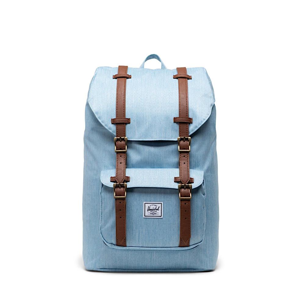 Herschel Little America Mid-Volume Backpack -  Light Denim Crosshatch