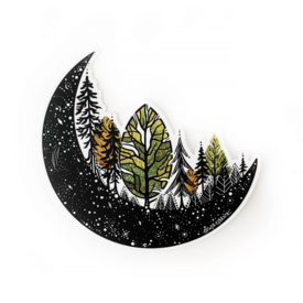 Wild Slice Design Wild Slice Design - Forest Moon Sticker
