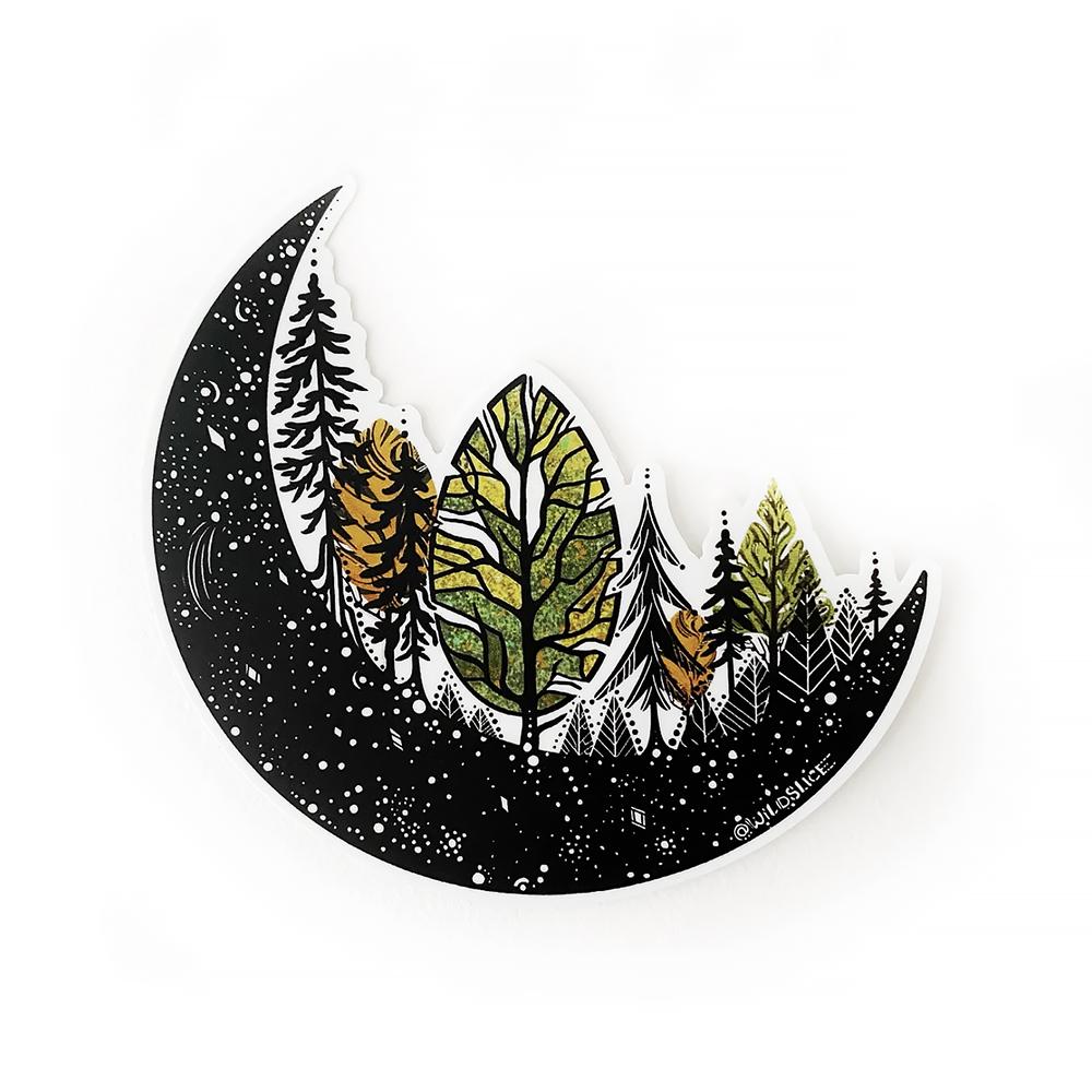 Wild Slice Design - Forest Moon Sticker