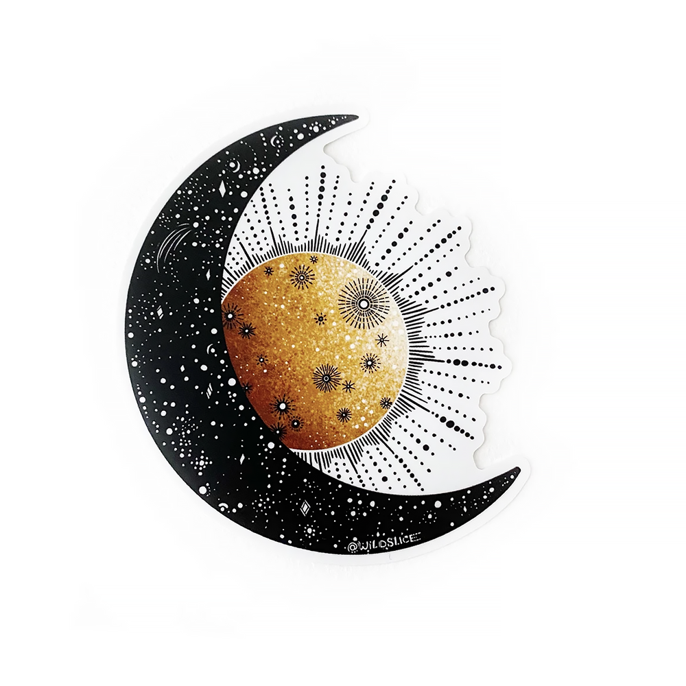 Wild Slice Design - Sun & Moon Sticker