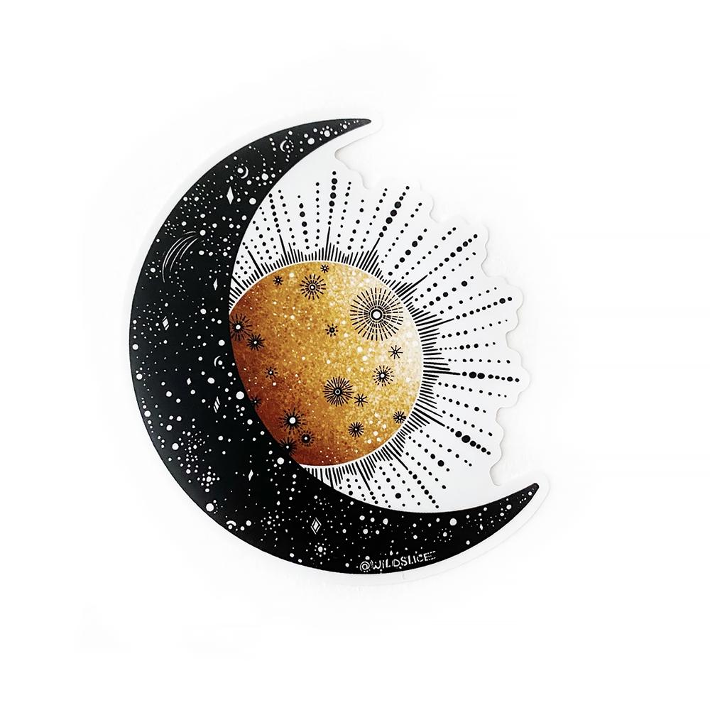Wild Slice Design Wild Slice Design - Sun & Moon Sticker