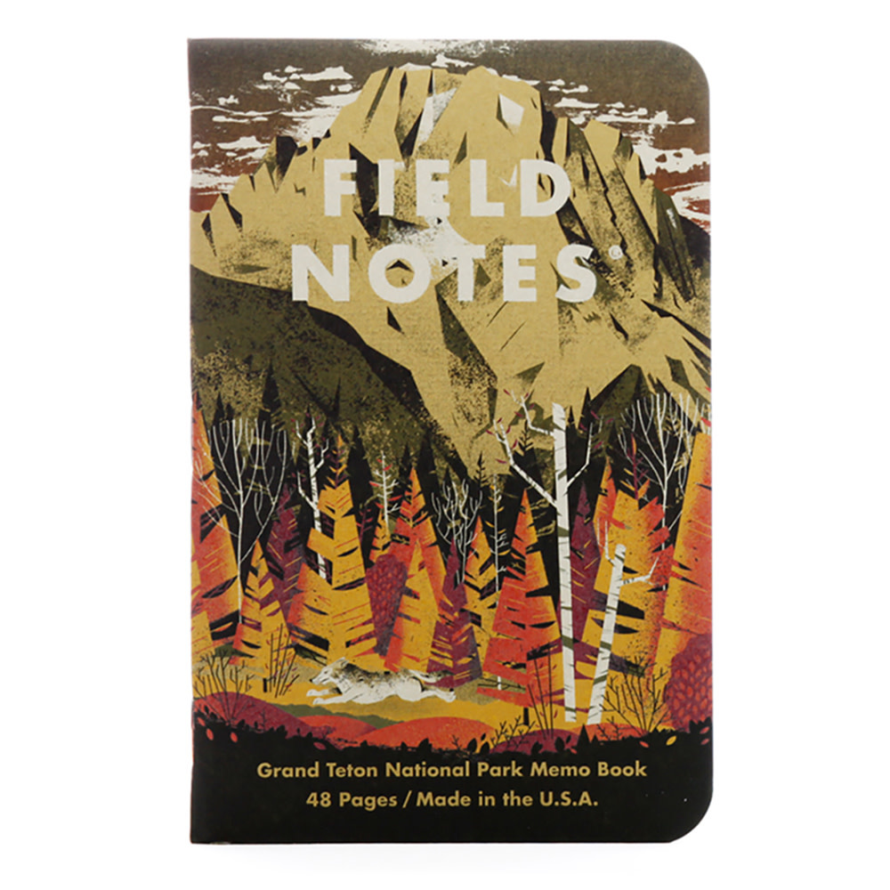 Field Notes - National Parks 3 Pack - Grand Teton, Arches, Sequoia