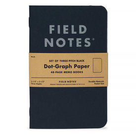 Field Notes Field Notes - Dot Graph Three Pack - Black