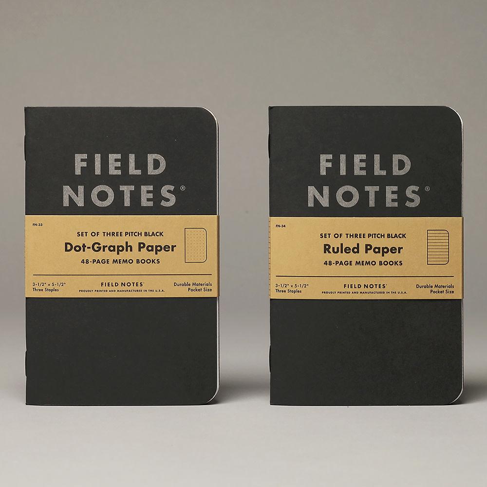 Field Notes - Dot Graph Three Pack - Black