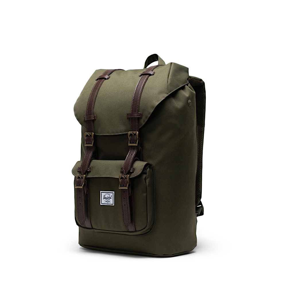 Herschel Little America Mid-Volume Backpack -  Color Ivy Green/Chicory Coffee