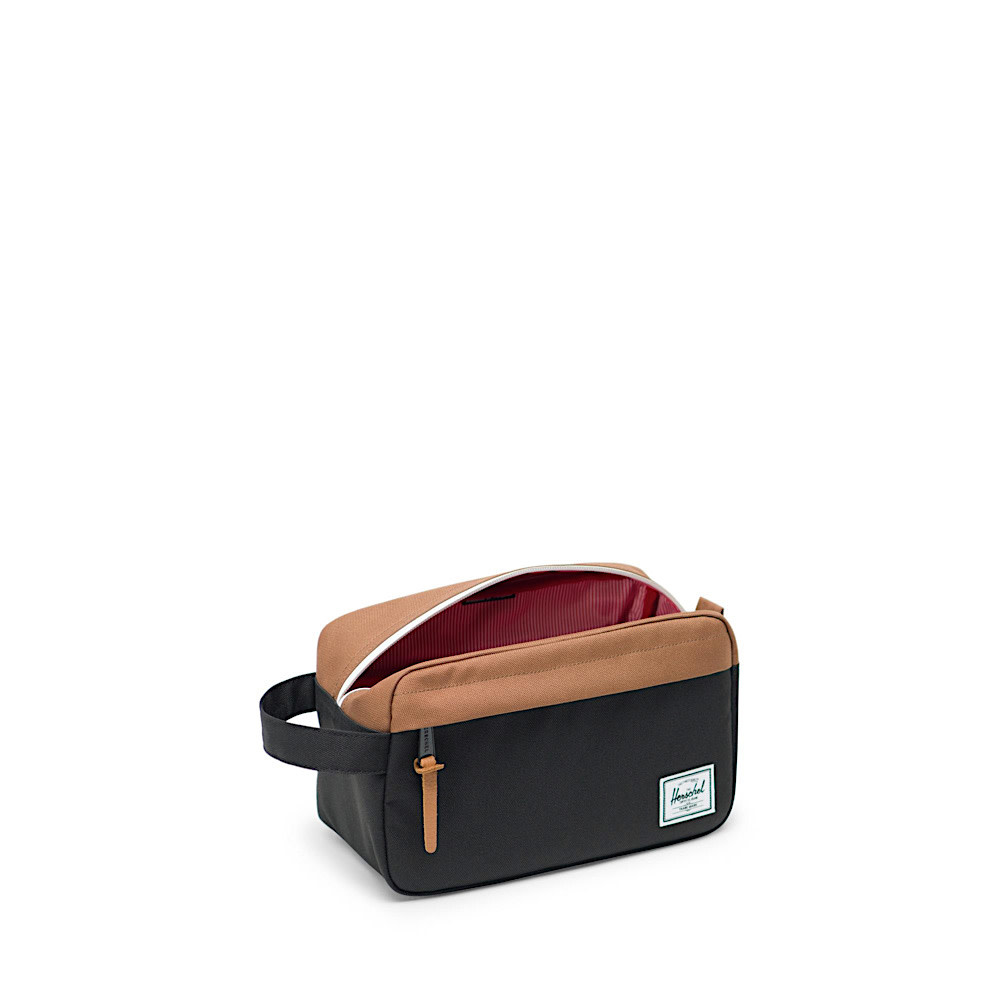 Herschel Chapter Dopp Bag - Black/Saddle Brown