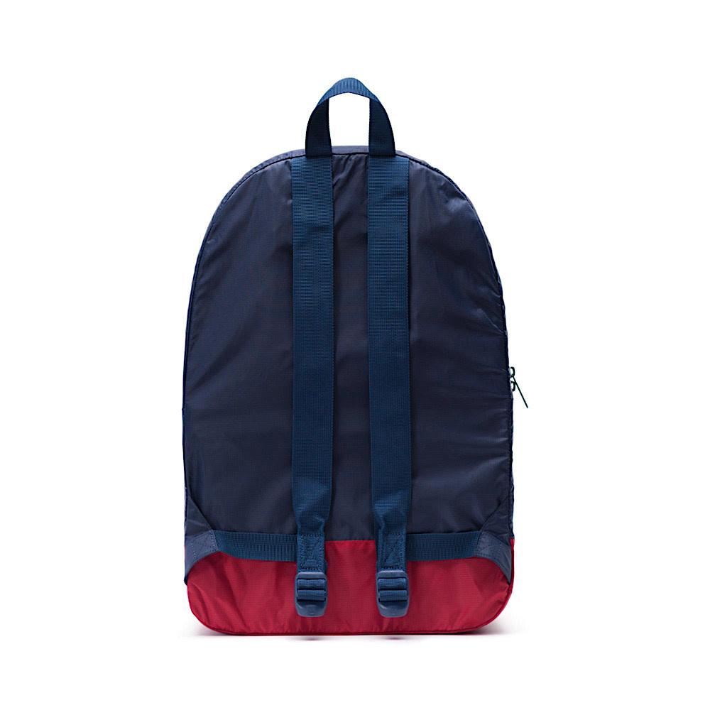 Herschel Packable Daypack - Ripstop - Navy/Red