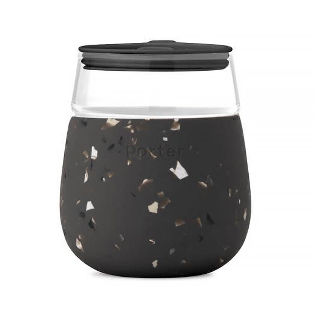 Porter Glass Cup 15oz - Terrazzo Charcoal
