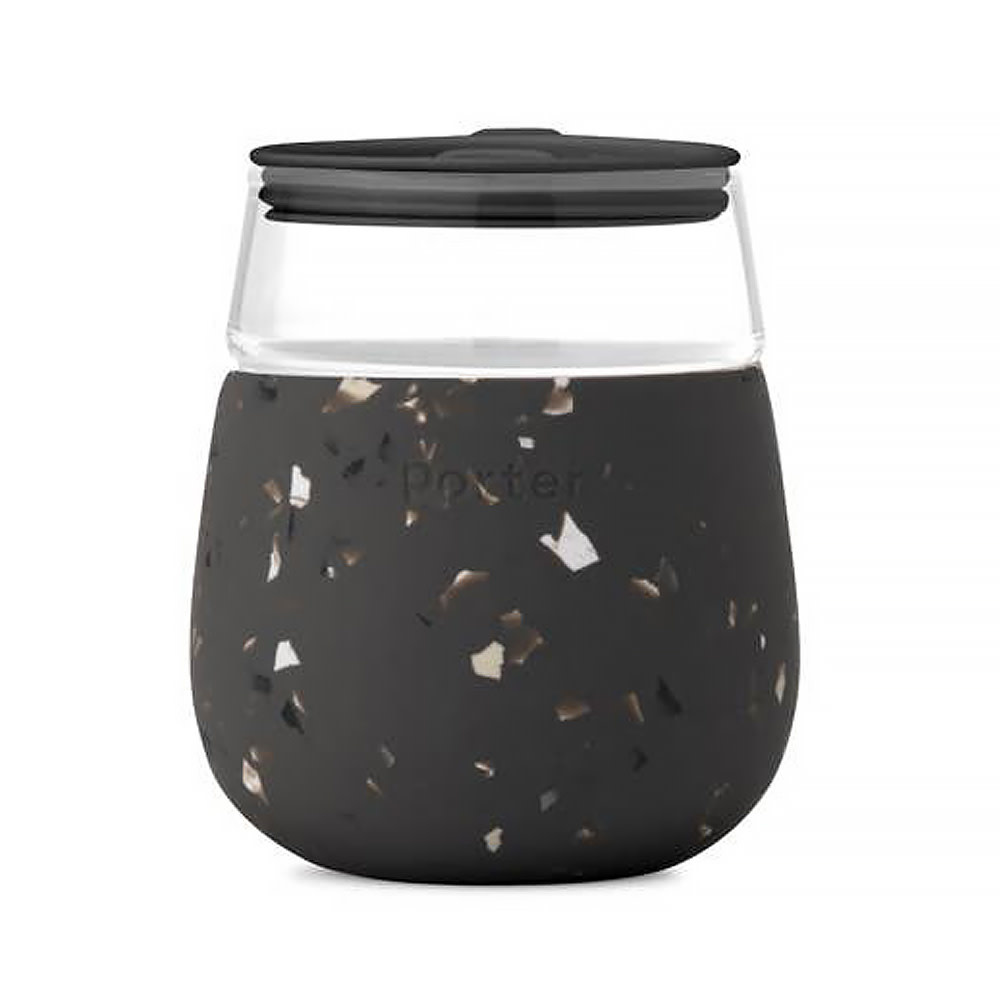 Porter Porter Glass Cup 15oz - Terrazzo Charcoal