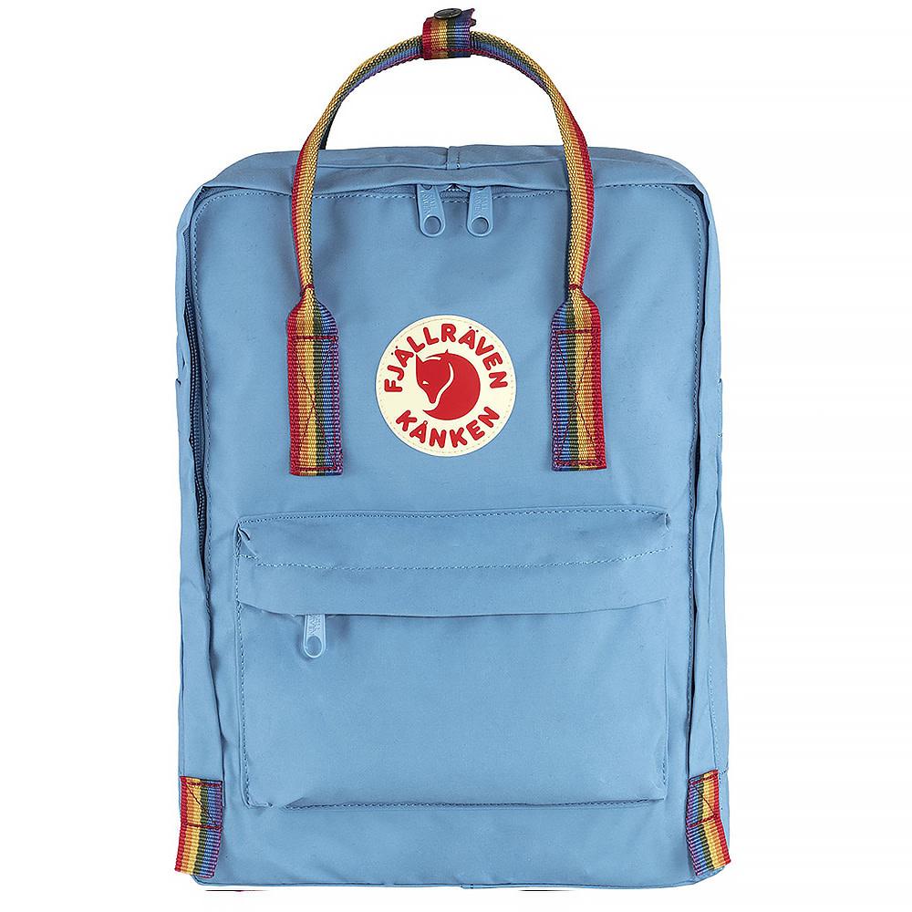 Fjallraven Kanken Classic Backpack - Air Blue Rainbow Pattern