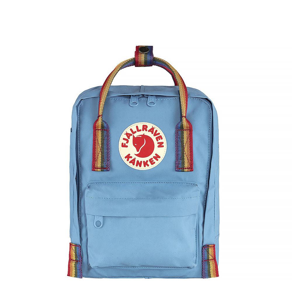 Fjallraven Arctic Fox LLC Fjallraven Kanken Mini Backpack - Air Blue Rainbow