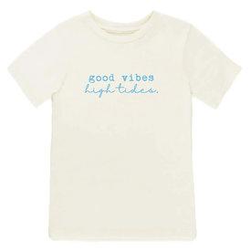Tenth & Pine Tenth & Pine Short Sleeve Tee - Good Vibes Aqua