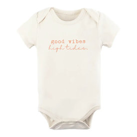 Tenth & Pine Tenth & Pine Short Sleeve Bodysuit - Good Vibes High Tides Coral