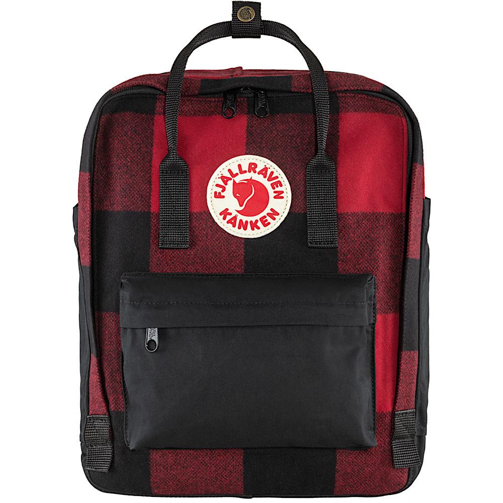 Fjallraven Kanken Re-Wool Backpack - Red/Black