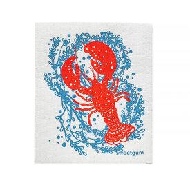Sweetgum Textiles Co. Sweetgum Textiles Dishcloth - Lobster on White
