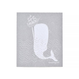 Sweetgum Textiles Co. Sweetgum Textiles Dishcloth - Moby Dick on Grey