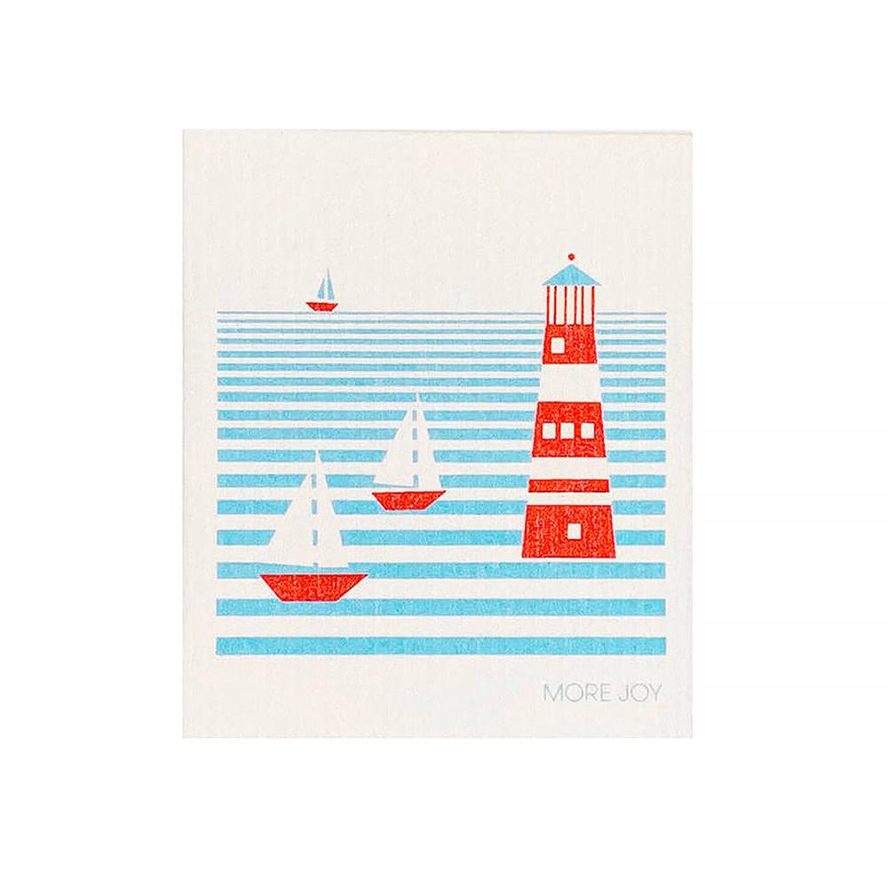 Sweetgum Textiles Dishcloth - Lighthouse on White