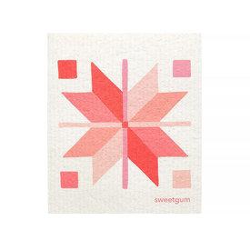 Sweetgum Textiles Co. Sweetgum Textiles Dishcloth - Pink Quilt on White