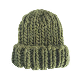 The Blueberry Hill The Blueberry Hill Adult Hat Chunky Beanie Olive L