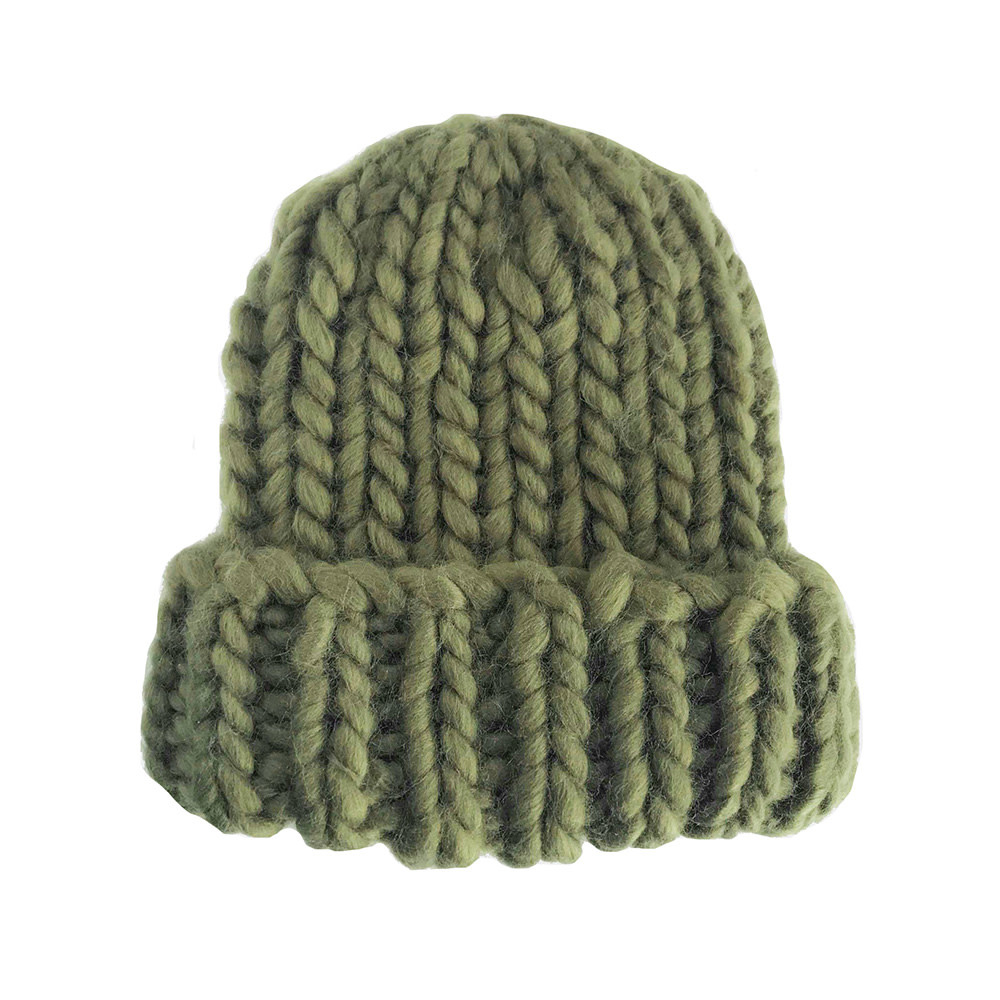 The Blueberry Hill Adult Hat Chunky Beanie Olive L