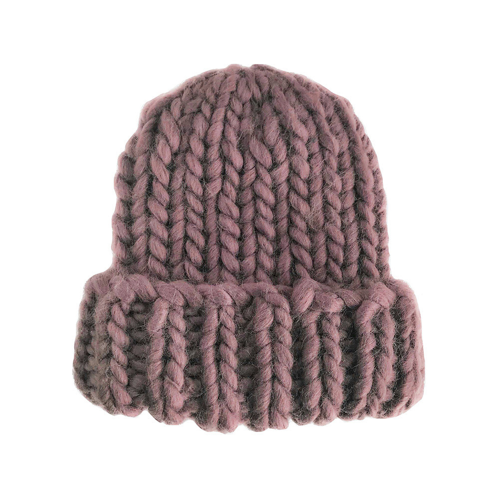 The Blueberry Hill Adult Hat Chunky Beanie Mauve L