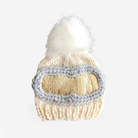 The Blueberry Hill The Blueberry Hill Baby Hat Ski Goggles Cream