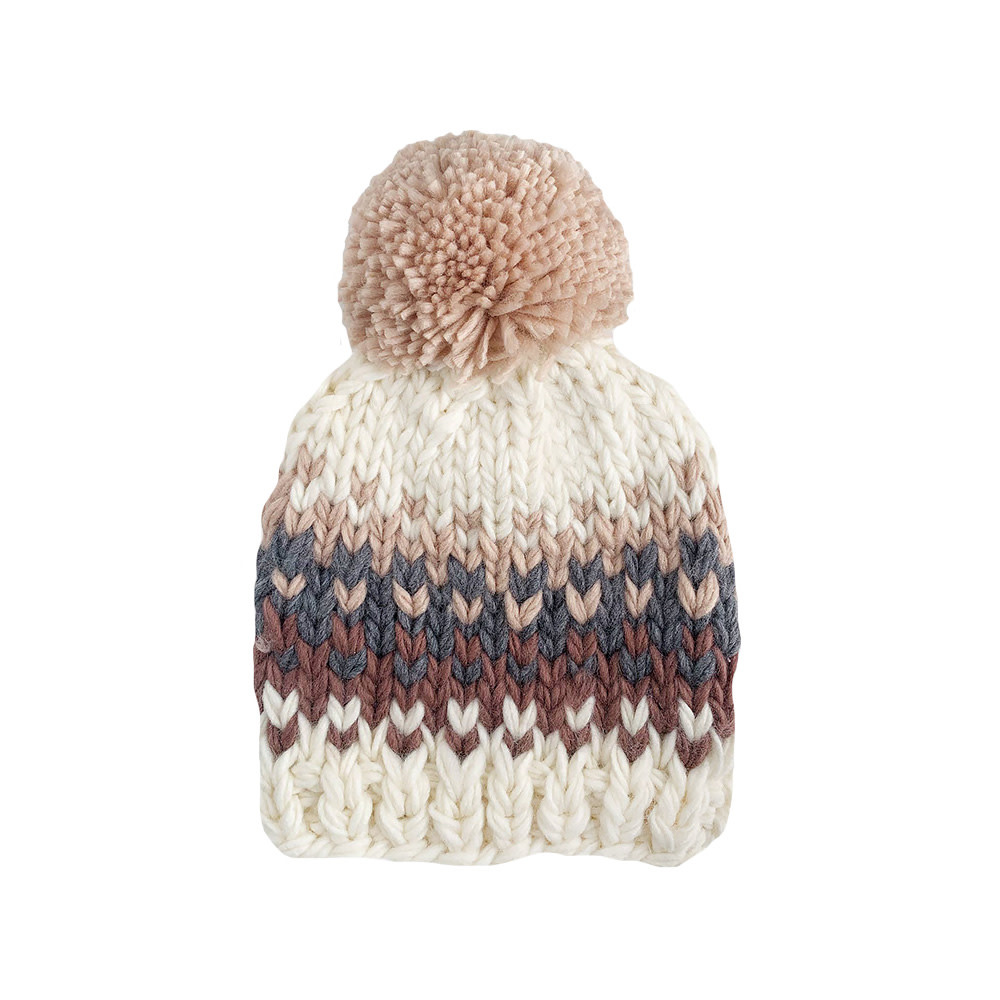 The Blueberry Hill Baby Hat Will Stripe Blush