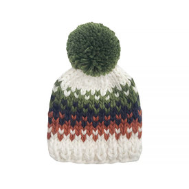 The Blueberry Hill The Blueberry Hill Baby Hat Will Stripe Olive