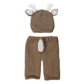The Blueberry Hill The Blueberry Hill Baby Outfit Set Hartley Deer Brown NB