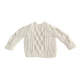 The Blueberry Hill The Blueberry Hill Fisherman Sweater Cream