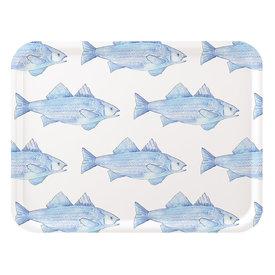 Trays4Us Sara Fitz Blue Fish Tray Large